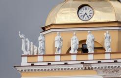 Sculptures sur la tour d'Amirauté Photographie stock