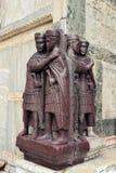Sculptures sur le palais du ` s de doge Image stock
