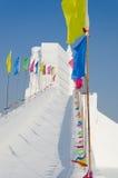 Sculptures sur neige à la glace de Harbin et au festival de neige à Harbin Chine Photographie stock libre de droits