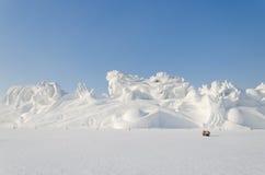 Sculptures sur neige à la glace de Harbin et au festival de neige à Harbin Chine Images libres de droits