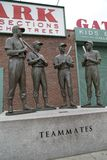 Sculptures teammates on Fenway Park  Boston Mass. Sculptures teammates on Fenway Park ,city Boston Mass USA outside Royalty Free Stock Images
