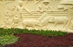 Sculptures thaïlandaises en type Photo stock