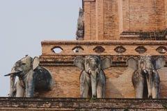 Sculptures traditionnelles de la Thaïlande Bouddha, Chiang Mai Photographie stock
