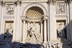 Sculptures of the Trevi Fountain in Rome, Italy Royalty Free Stock Photos