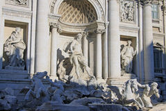 Sculptures of the Trevi Fountain in Rome, Italy Royalty Free Stock Photo