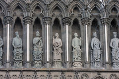 Sculptures of Trondheim church Stock Image