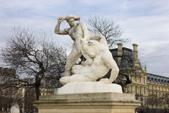 Sculptures in Tuileries Garden in Paris Royalty Free Stock Images