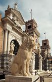 Sculptures of Venetian Arsenal royalty free stock photo