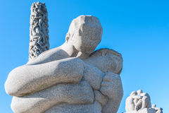 Sculptures in Vigeland park hugs Royalty Free Stock Images