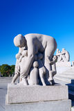 Sculptures in Vigeland park mother and kids Stock Photo