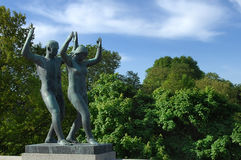 Sculptures in Vigeland park , Oslo Stock Photo