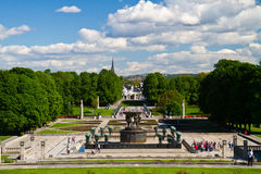 Sculptures in Vigeland park Oslo Norway Stock Images