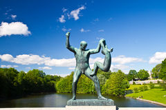 Sculptures in Vigeland park Oslo Norway stock photo