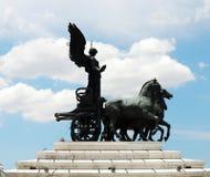 Sculptures of Vittorio Emmanuele monument Stock Photography
