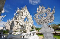 Sculptures in Wat Rong Khun temple Royalty Free Stock Photo
