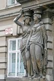 Sculptures of women in the Hofburg Palace in Vienna, Austria. Royalty Free Stock Images
