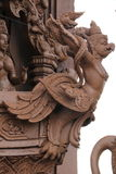Sculptures, wood carvings, ancient country of Thailand Beautiful Stock Photos