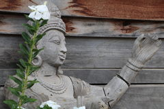 Sculptures, wood carvings, ancient country of Thailand Beautiful Royalty Free Stock Photography
