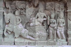 Sculptures, wood carvings, ancient country of Thailand Beautiful Stock Images