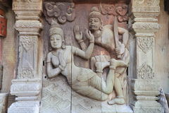 Sculptures, wood carvings, ancient country of Thailand Beautiful Stock Image