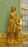Sculpure d'un artiste musical féminin chinois Image stock