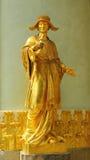 Sculpure di un artista musicale maschio cinese del corno Fotografie Stock