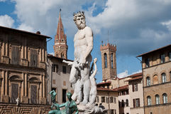 Sculpure of Neptune Florence Royalty Free Stock Image