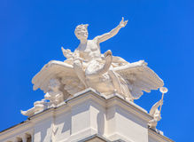 Sculpure on the top of the Zurich Opera House Stock Photos