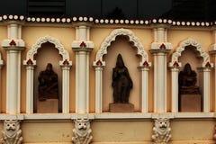 Sculpures de pedra antigos no palácio do maratha do thanjavur Fotografia de Stock
