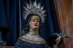 Sculputure barroco en el sao Francisco de Assis Church - sao Joao D Foto de archivo