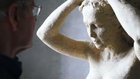 Scultor kobiety modelarska rzeźba w modelarskiej glinie zbiory wideo
