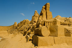 Scultore della sabbia Immagini Stock