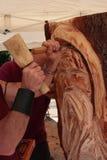 Scultore di legno fotografie stock