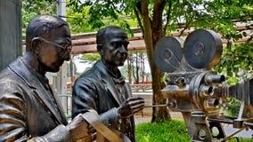 Scultpures am thailändischen Film-Museum lizenzfreies stockbild