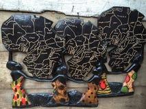 Scultura africana Fotografia Stock Libera da Diritti