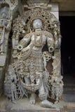 Scultura al tempiale di Hoysaleswara fotografia stock libera da diritti