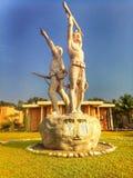 scultura alla città universitaria del kuet fotografia stock libera da diritti