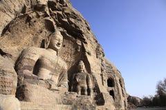 Scultura antica del Buddha Immagini Stock