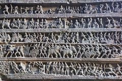 Scultura antica del tempiale indù Fotografia Stock