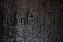 Scultura antica della pietra Fotografie Stock Libere da Diritti