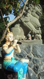 Scultura antica di Phra Aphai Mani in pratica fotografie stock libere da diritti