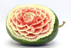 Scultura asiatica della frutta dell'anguria Immagine Stock