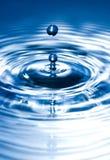 Scultura blu Immagine Stock