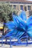 Scultura blu del ` di vetro della stella della cometa del `, campo Santo Stefano, Murano, Venezia, Italia Fotografia Stock Libera da Diritti