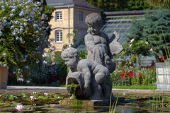 Scultura in Botanischer Garten Karlsruhe Fotografie Stock Libere da Diritti