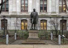 Scultura bronzea di John Christian Bullit, comune, Filadelfia, Pensilvania Fotografia Stock Libera da Diritti