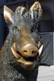 Scultura bronzea di un verro Fotografia Stock Libera da Diritti