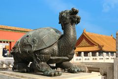 Tartaruga bronzea, la Città proibita, Pechino, Cina Fotografia Stock Libera da Diritti