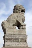 Scultura cinese del leone fotografie stock