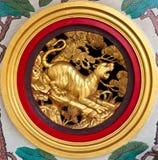 Scultura cinese della tigre Immagine Stock Libera da Diritti